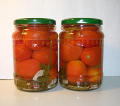 Консервы овощные стерилизованные