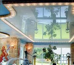 Натяжные потолки зеркальные