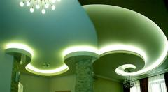 Натяжные потолки из гипсокартона