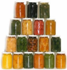 Консервы овощные маринованные